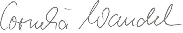 Unterschrift Cornelia Wandel